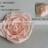 "2014 Elegant Artificial PE Pink Flower 10"" Artificial PE Wedding Rose Head"
