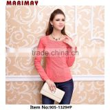 chinese website designer clothing, woman wear lace blouse of long sleeve