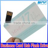 Transparent Card USB Flash Drive Custom Logo USB Key Flash Card Business Gift USB Stick Flash Pen Drive 32GB 16GB 8GB 4GB