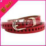 Women Hollow Belt Punching Thin Leather Belt Leather Cowhide Casual Fashion Korean Belts