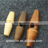 chinese wood toggle 2-holes button for coat