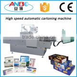 Top quality horizontal sachet cartoning machine, sachet carton packing machine