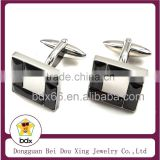 2015 Unique Design Clothes Accessories Jewelry Infinity High-end Styles Stainless Steel Black Stone Mens Cufflinks Made In China