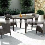 Evergreen Wicker Furniture - Outdoor wicker Coffee Set with PE Rattan Material