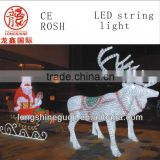 Wholesale - LED Christmas 3D motif light of white chrismas father with LED Acrylic Motif lights