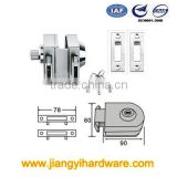 Double lock head tempered glass door lock