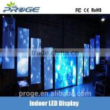 Light weight aluminum portable p6 led curtain fabric