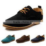 2015 New Suede genuine leather men flats shoes men's oxfords casual Loafers sneakers