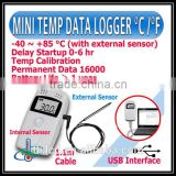 China Factory Supply Single Use Temperature Data Logger, USB Temperature Data Logger, USB Thermometer Temperature Recorder
