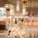 beautiful crystal candelabra for wedding centerpiece decoration glass hurricanes candelabra wedding favors stand