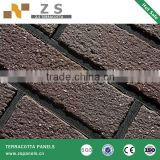fire bricks architectural facade terracotta wall siding dry hanging system exterior wall terracotta tiles facade ceramic panel