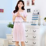Summer is pure and fresh and transparent silk condole belt nightgown