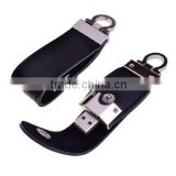 mini leather usb flash, white/black/brown leather usb keychain, promotional usb flash drive leather