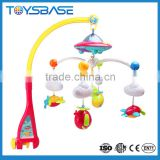 Baby crib hanging toy musical mobile with projector and light