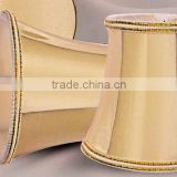 mass product pretty substitute moccasin bell lamp shade with gold overlock for polyresin table lamp