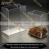 China OEM CE clear acrylic book shaped candy box