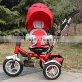 Air wheel new model kids tricycle /baby tricycle for children/baby stroller with push handle on sale