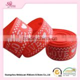 Valentine's Day ornament , print ribbon wedding decoration satin ribbon roll 3 inch grosgrain ribbon