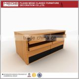 Clothes retail shop wooden design jeans shelf display