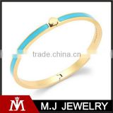 Fast delivery women's love button stainless steel blue gold bracelet
