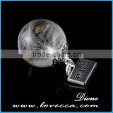 Dandelion glass ball for earring/necklace ,glass ball for making jewelry