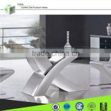 X01 X shape top heavy-duty stainless steel dining table base and chairs