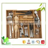 Customized high quality wooden cutlery tray