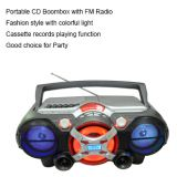 Multifunction CD Boombox cassette record player with radio