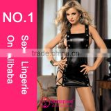 2015 Hot sales Fashionable style photos sex girls black leather sexy leather lingerie full sex image