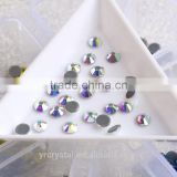 2058 hot fix stones design crystal AB glass beads glue on clothes