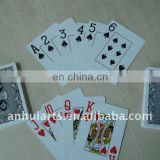 Jumbo index plastic playing cards