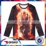 Wholesale top fashion long sleeve dry fit new model men's t-shirt