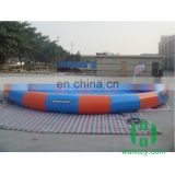 HI round blue & red inflatable swimming pool, commercial inflatable pool for Water Walking Ball,Bumper Boat