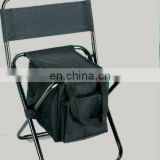 Portable fishing chair with bag