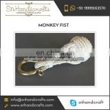 Light Weight Traditional Bracelet Handmade Cotton Monkey Fist Keychain for Sale