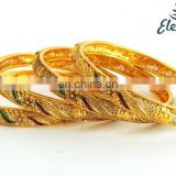 Wholesale One gram gold bangles jewelry-Bollywood kundan polki bangles -Indian fashion bangle-meenakari Indian ethnic bangles