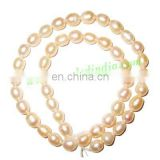 Fresh Water Pearl String, approx 46 pearls of size 7x9mm in a string