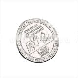 silver plated embossed commemorative coin