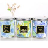 SPA Natural Scented Soy Wax Glass Jar Candles With Cover