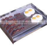 OEM ODM stainless steel gas griddle with CE CSA GS Approved with pan