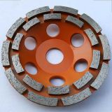 Double Row Turbo Diamond Grinding Cup Wheel Disc for Concrete Granite Marble Stone
