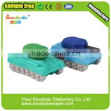 Electric Tank Shaped 3D Rubber Eraser