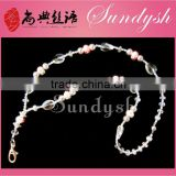 Newest Design Fashion Jewelry Shiny Bling Crystal Beaded Lanyard