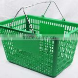 Plastic Supermarket Grocery Shopping Basket/Hand Basket