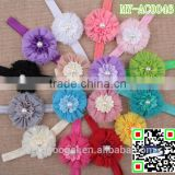 shabby sunflower baby girl headband hairband hair accessories for kids with jewelry MY-AC0046