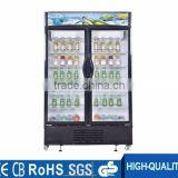 Glass door showcase refrigerator, vitrine refrigerator