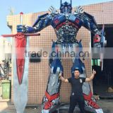 Modern style large metal abstract sculpture , art sculptures for outdoor decoration 5 meters high Optimus prime