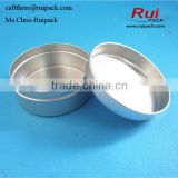100ml Empty Aluminium Cosmetic jar for Lip Balm, aluminum Jar for Ointment Hand Cream Storage, snap cap aluminum can