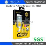 Wholesales Price Retail Packages 0.33mm Tempered Glass Screen Protector For Lenovo Vibe X S960
