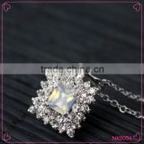 Personalized High Quality Crystal Rhinestone Pendant Necklace Stainless Steel Chain Necklace